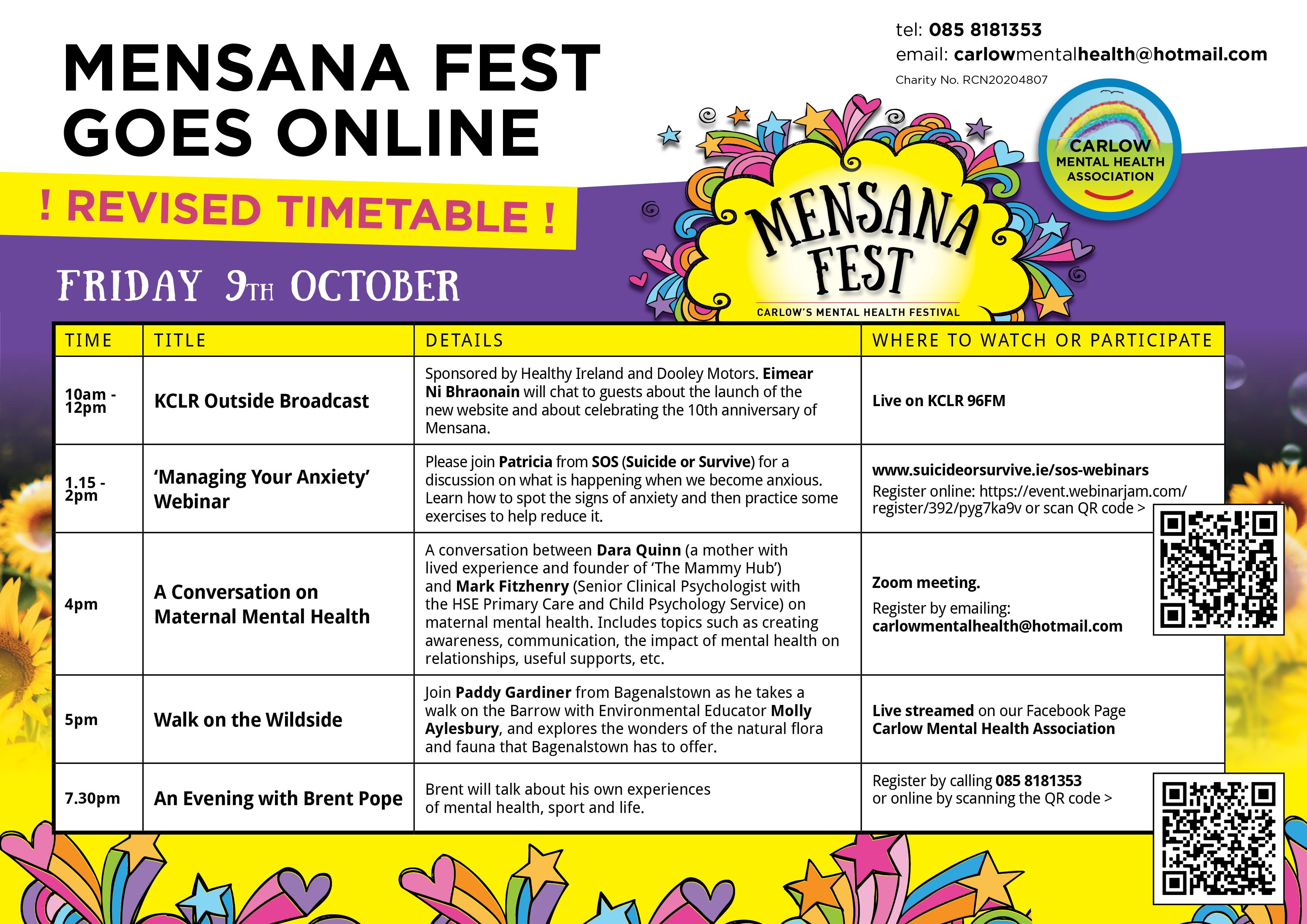 Friday Mensana Programme